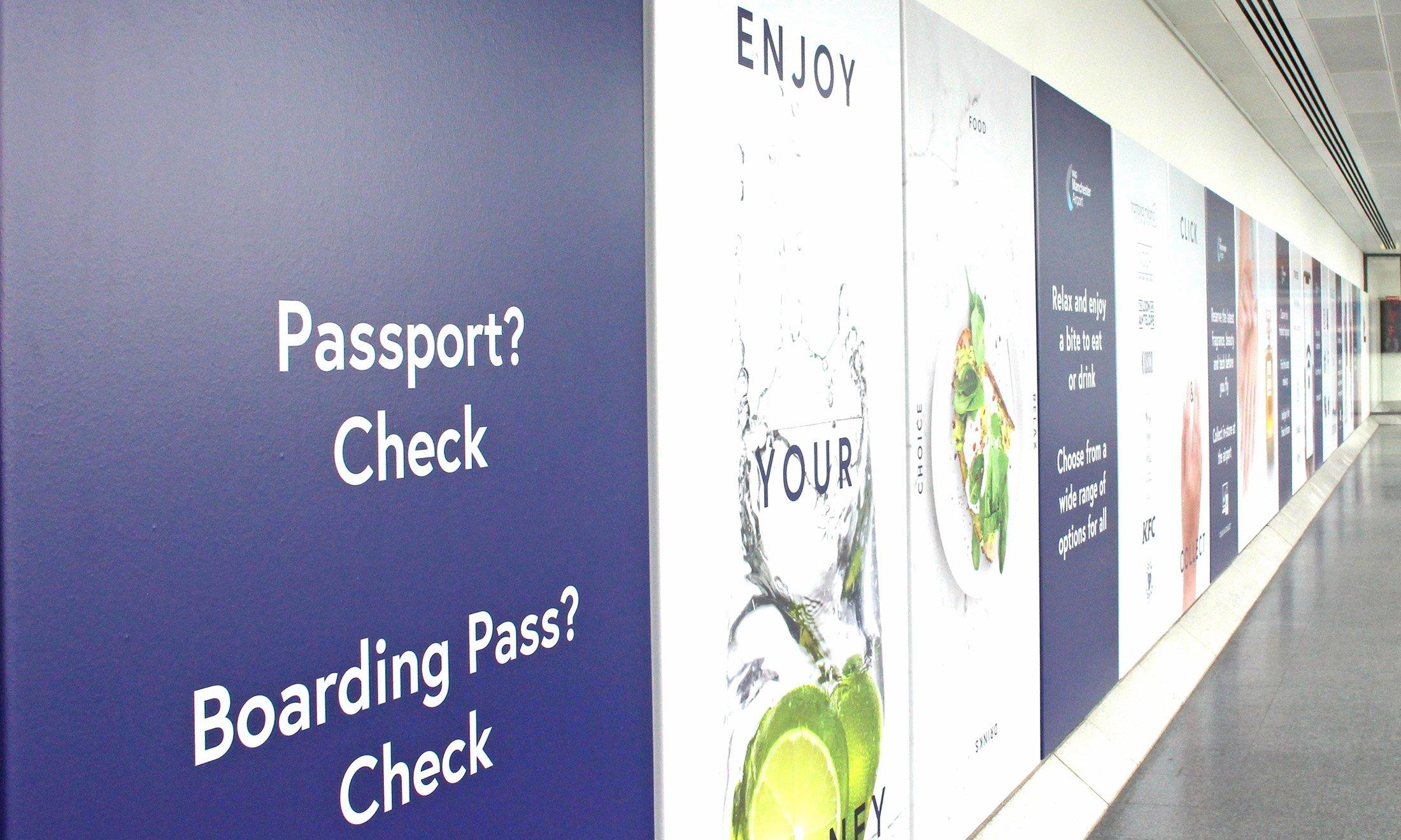 Airport Signage Graphic Design