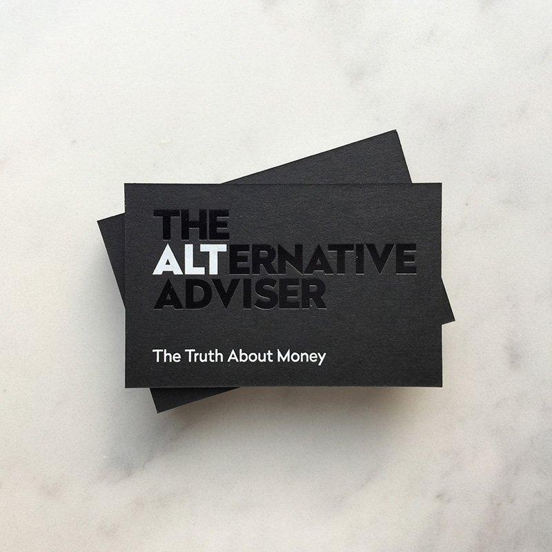 The Alternative Adviser Brand Design Business Card