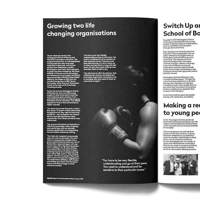 The Alternative Adviser ESCAPE Magazine Design