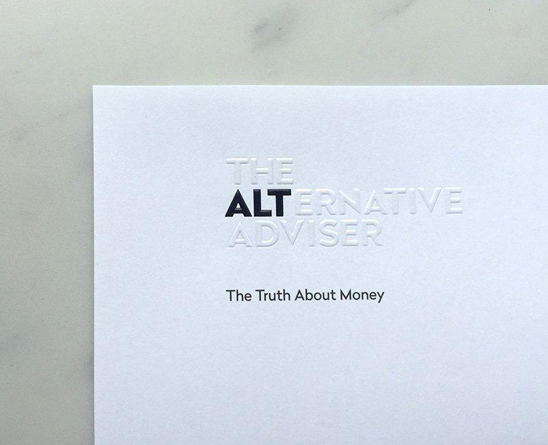 Alternative Adviser financial services brand letterhead