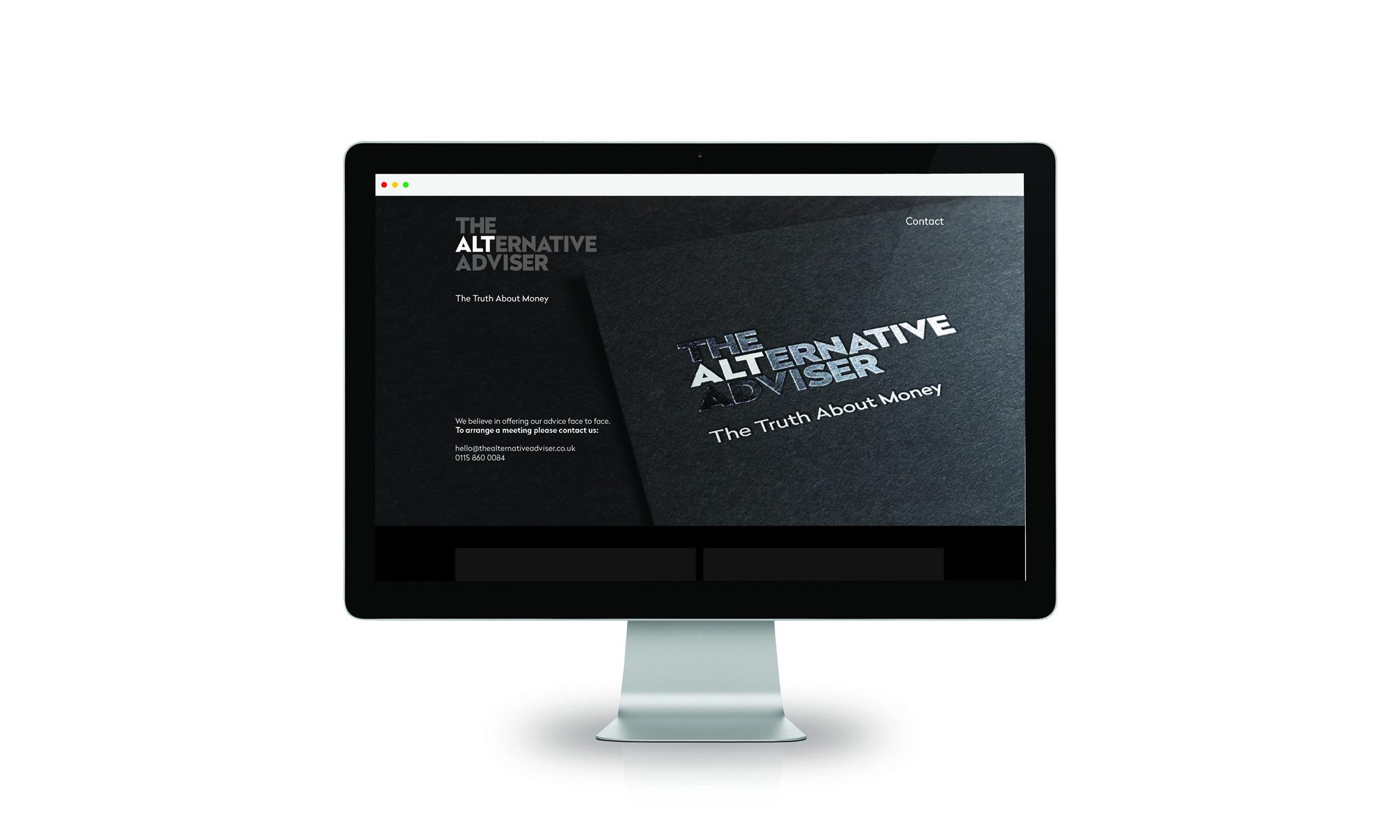 Alternative Adviser financial services brand website design