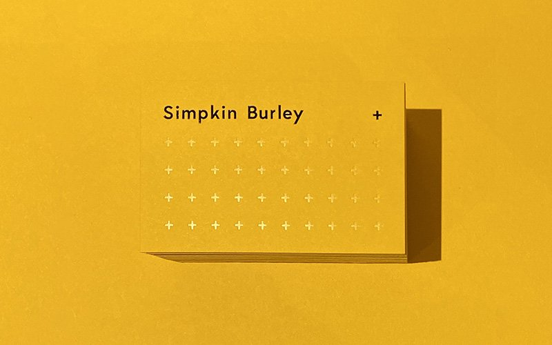 Simpkin Burley contact card design