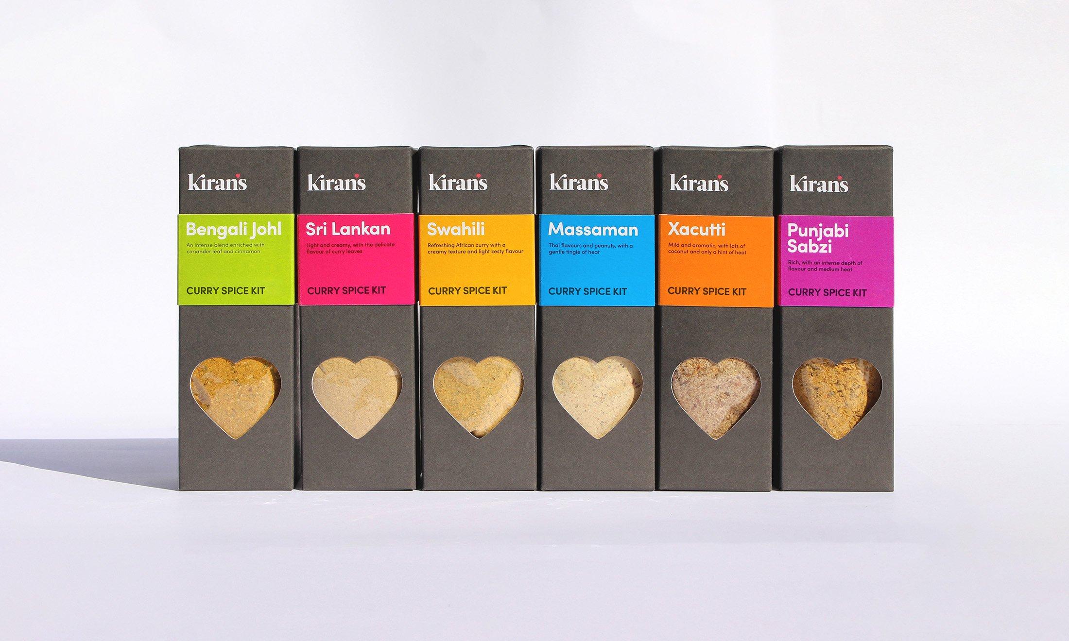 Simpkin Burley Kiran's packaging creative