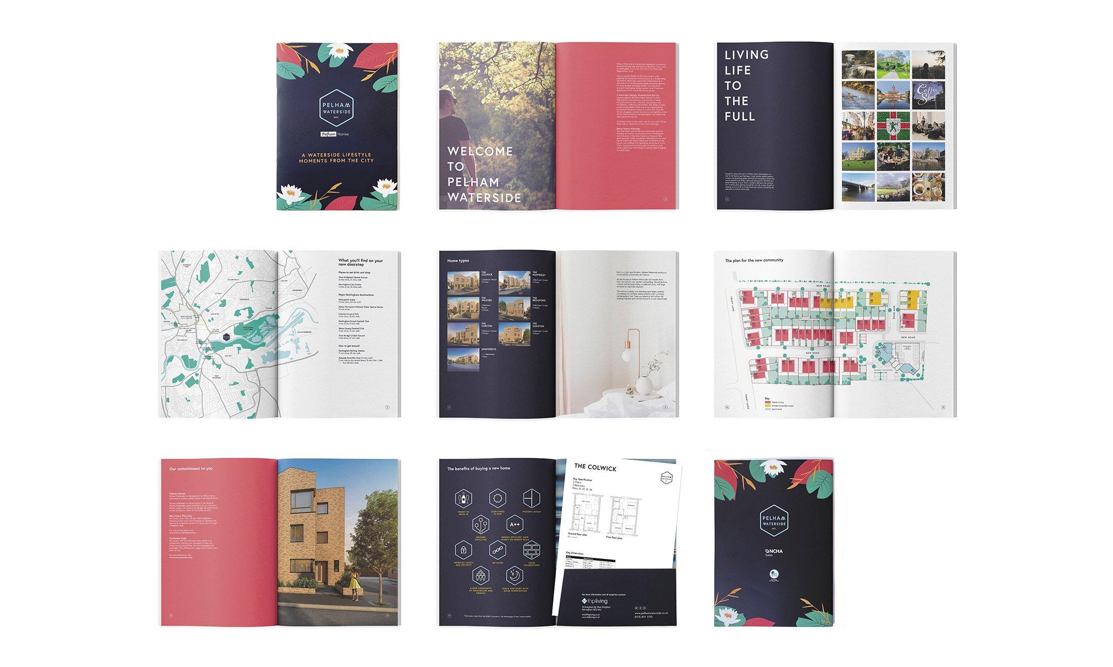 Pelham Waterside branded Sales Brochure