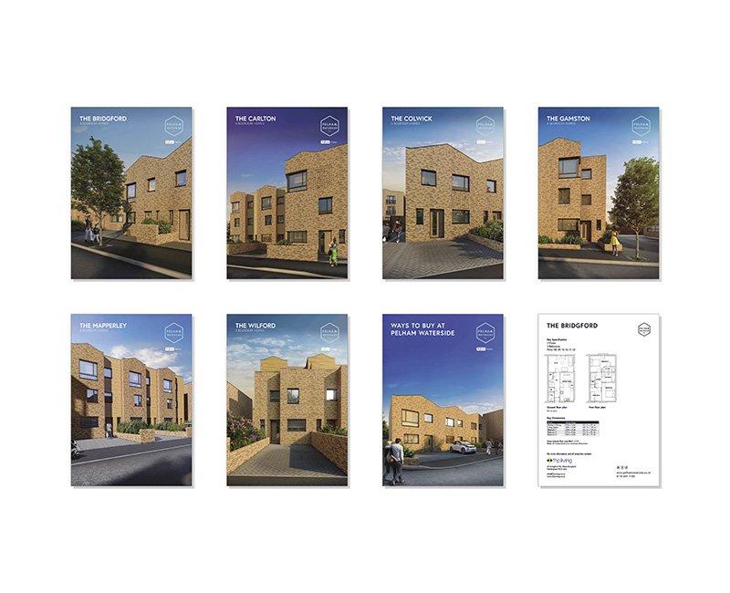 Pelham Waterside sales brochure inserts