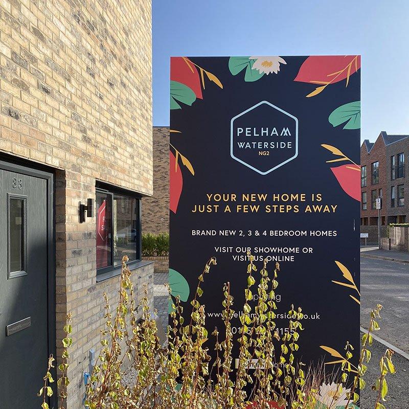Pelham Waterside Branded Signage