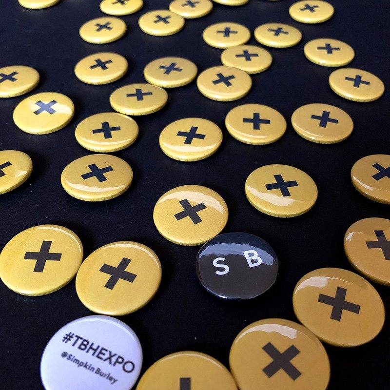 Simpkin Burley pin badges