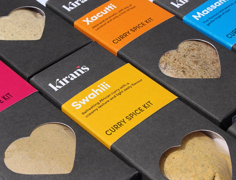 Kiran's Spice Packaging Design