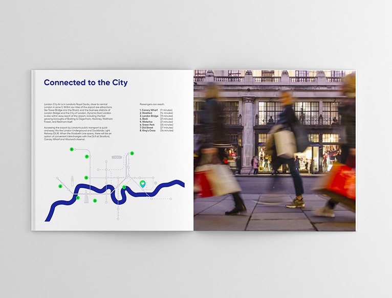 London City Airport B2B Brochure Design