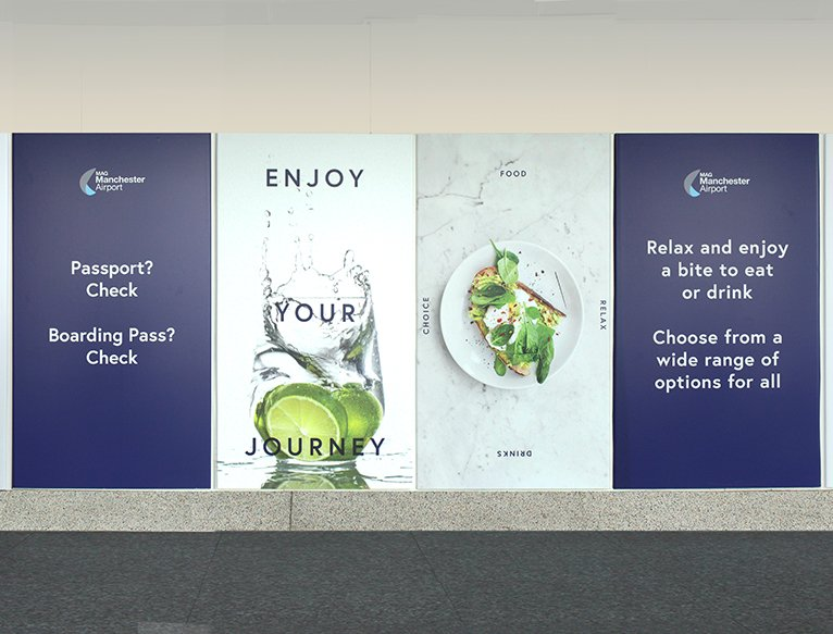 Manchester Airport Signage Design